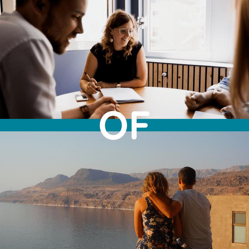 werken of op vakantie