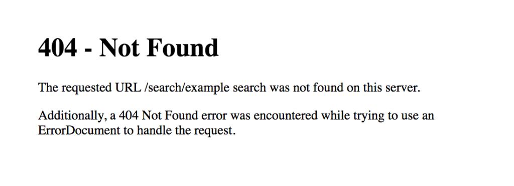 404 pagina not found