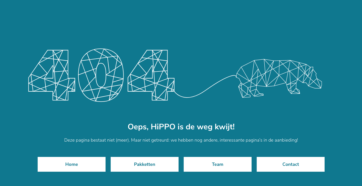 404 pagina not found HiPPO