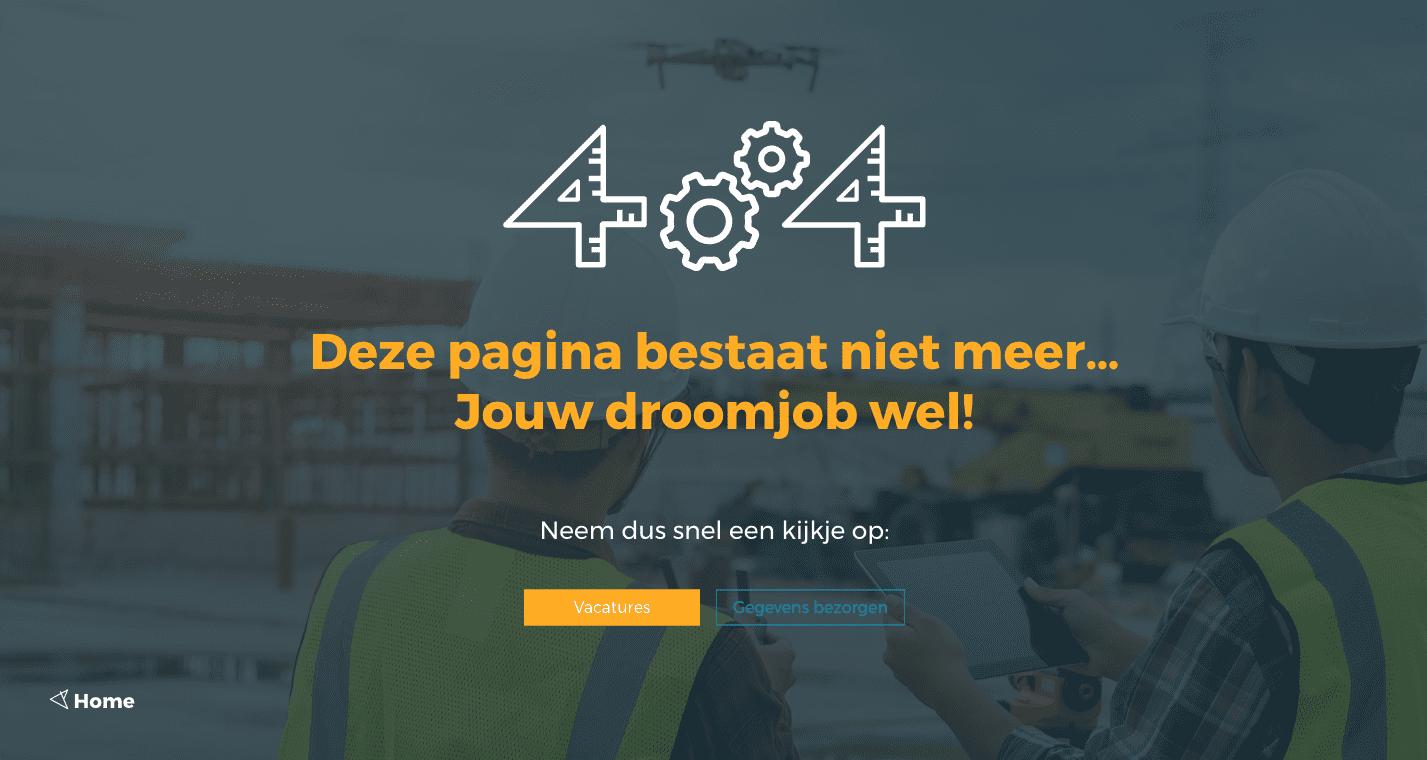 404 pagina not found vizir